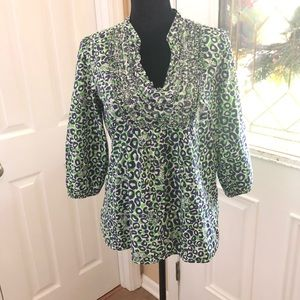 LILLY PULITZER TIGER PRINT TUNIC TOP SIZE M